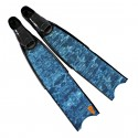 סנפירי צלילה חופשית Leaderfins Blue Camo